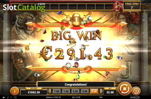 Big Win. Game of Gladiators (Video Slot from Play'n Go)
