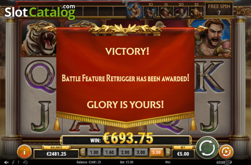 Retrigger. Game of Gladiators (Video Slot from Play'n Go)