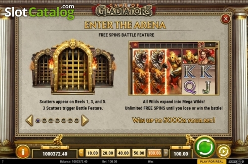 Features 1. Game of Gladiators (Video Slot from Play'n Go)
