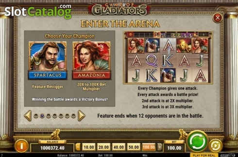 Features 2. Game of Gladiators (Video Slot from Play'n Go)