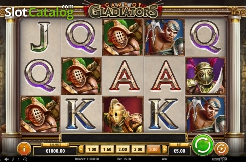 Reel Screen. Game of Gladiators (Video Slot from Play'n Go)