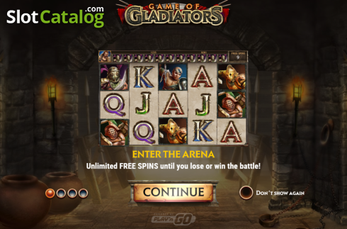 Intro 1. Game of Gladiators (Video Slot from Play'n Go)