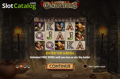 Intro 2. Game of Gladiators (Video Slot from Play'n Go)
