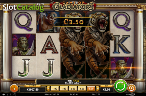 Feature 1 Win. Game of Gladiators (Video Slot from Play'n Go)