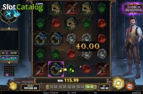 Win Screen. Tome of Madness (Video Slot from Play'n Go)