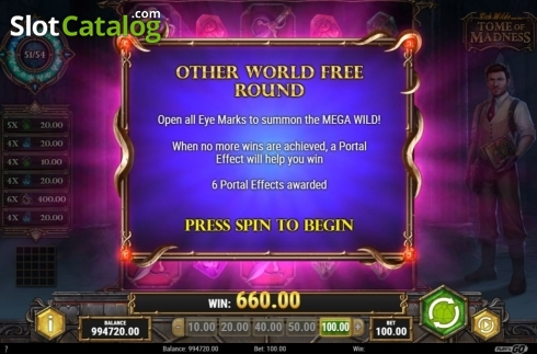 Free Spins 1. Tome of Madness (Video Slot from Play'n Go)