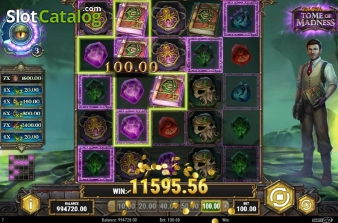 Free Spins 3. Tome of Madness (Video Slot from Play'n Go)