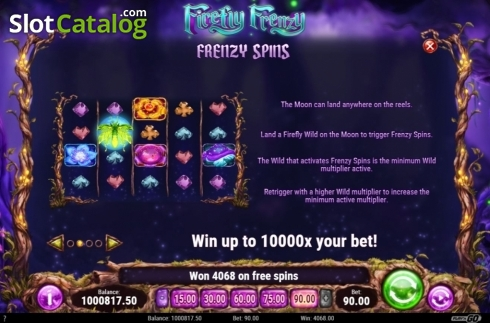 Skärm12. Firefly Frenzy (Video Slot från Play'n Go)