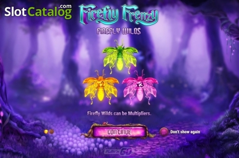 Start Screen. Firefly Frenzy (Video Slot from Play'n Go)