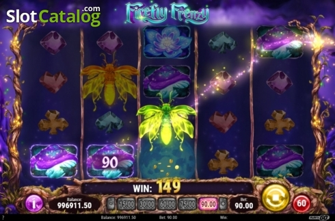 Win Screen. Firefly Frenzy (Video Slot from Play'n Go)