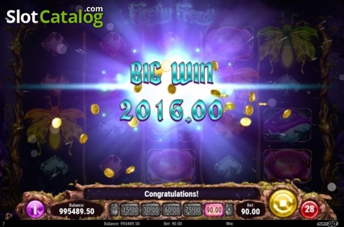 Skärm5. Firefly Frenzy (Video Slot från Play'n Go)