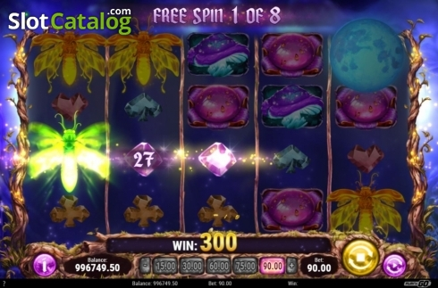 Skärm7. Firefly Frenzy (Video Slot från Play'n Go)