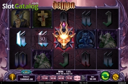 Win Screen 1. Demon (Video Slots from Play'n Go)