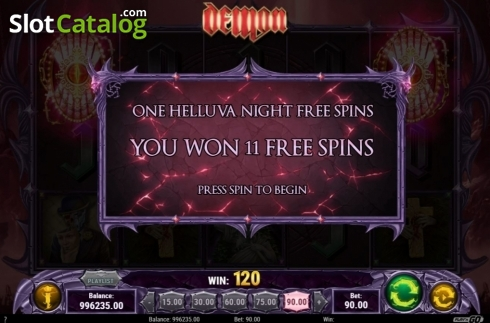 Free Spins 1. Demon (Video Slots from Play'n Go)
