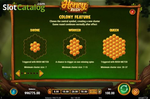 Colony Feature. Honey Rush (Video Slot from Play'n Go)