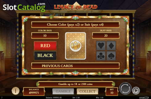 Gamble. Legacy of Dead (Video Slots from Play'n Go)