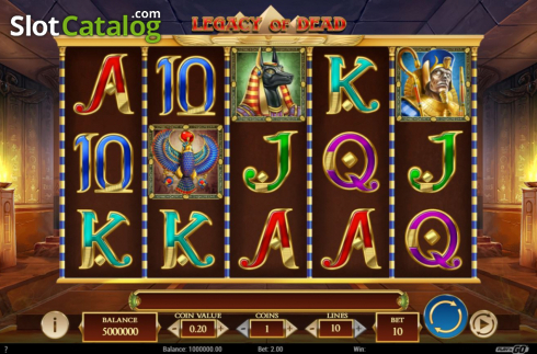 Reel Screen. Legacy of Dead (Video Slots from Play'n Go)