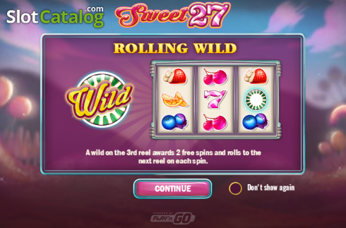 Screen 1. Sweet 27 (Video Slots from Play'n Go)