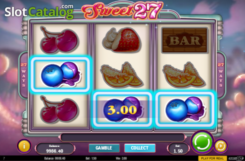Screen 4. Sweet 27 (Video Slots from Play'n Go)