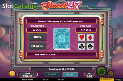 Screen 5. Sweet 27 (Video Slots from Play'n Go)