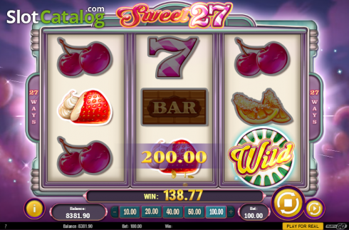 Screen 6. Sweet 27 (Video Slots from Play'n Go)