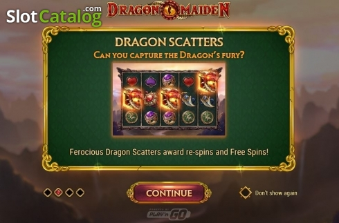 Scherm11. Dragon Maiden (Video Slot van Play'n Go)