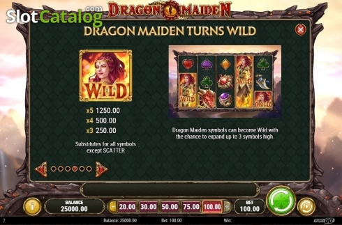 Scherm12. Dragon Maiden (Video Slot van Play'n Go)