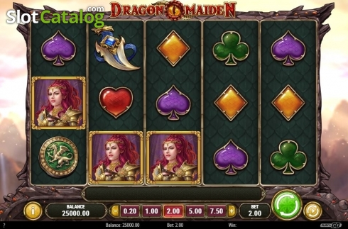 Scherm2. Dragon Maiden (Video Slot van Play'n Go)