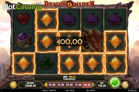 Scherm3. Dragon Maiden (Video Slot van Play'n Go)