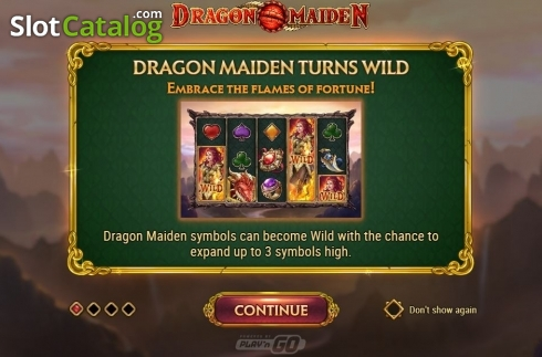 Scherm9. Dragon Maiden (Video Slot van Play'n Go)