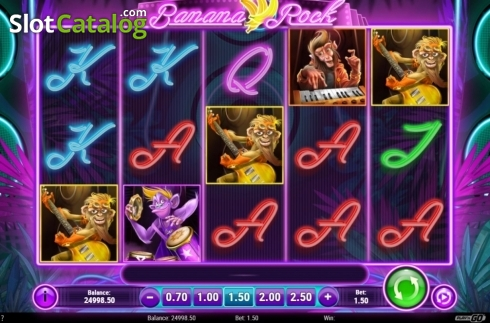 Reel Screen. Banana Rock (Video Slot from Play'n Go)