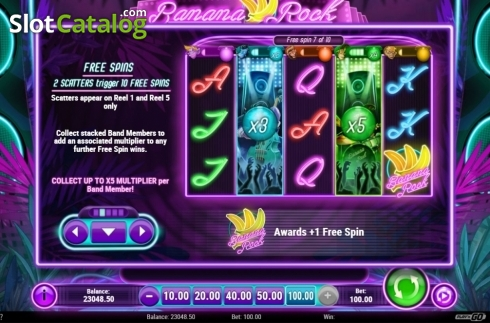 Free Spins. Banana Rock (Video Slot from Play'n Go)