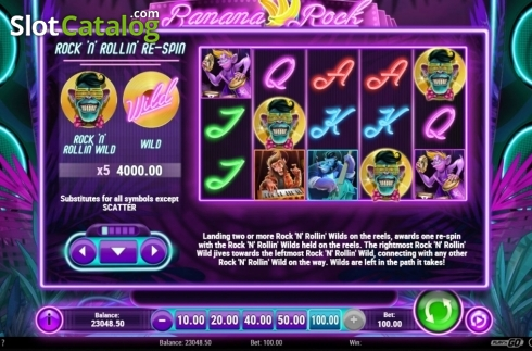 Respin. Banana Rock (Video Slot from Play'n Go)