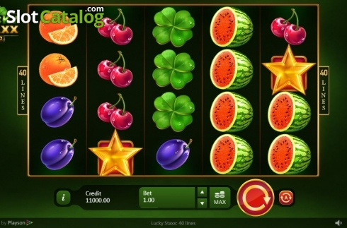 Reel Screen. Lucky Staxx 40 lines (Video Slot from Playson)
