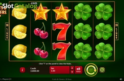 Reel Screen. Fruits & Clovers 20 lines (Video Slot from Playson)