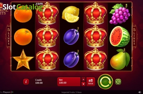Reel Screen. Imperial Fruits: 5 lines (Video Slot from Playson)