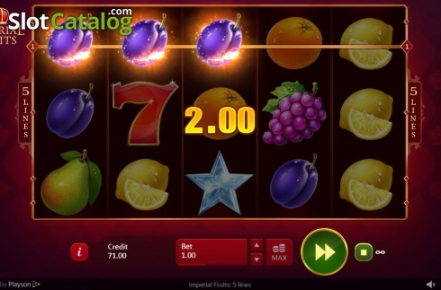 Common Win Screen. Imperial Fruits: 5 lines (Video Slot from Playson)