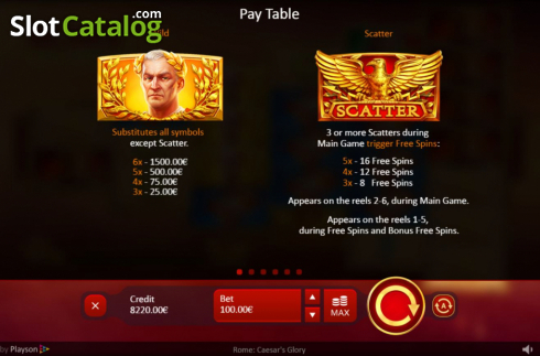 Spiele Caesars Glory - Video Slots Online