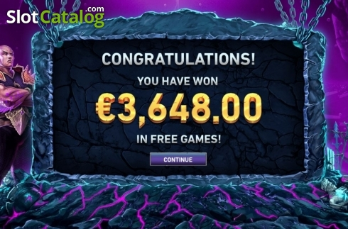 Total Win. Kingdoms Rise: Guardians of the Abyss (Video Slot from Playtech Origins)