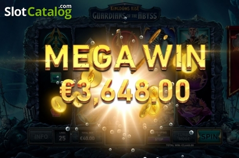 Mega Win. Kingdoms Rise: Guardians of the Abyss (Video Slot from Playtech Origins)