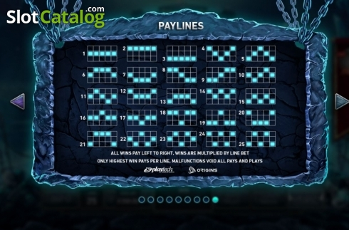 Paylines. Kingdoms Rise: Guardians of the Abyss (Video Slot from Playtech Origins)