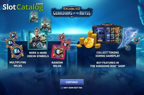 Start Screen. Kingdoms Rise: Guardians of the Abyss (Video Slot from Playtech Origins)