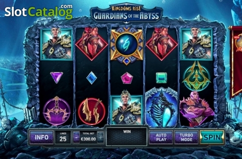 Reel Screen. Kingdoms Rise: Guardians of the Abyss (Video Slot from Playtech Origins)