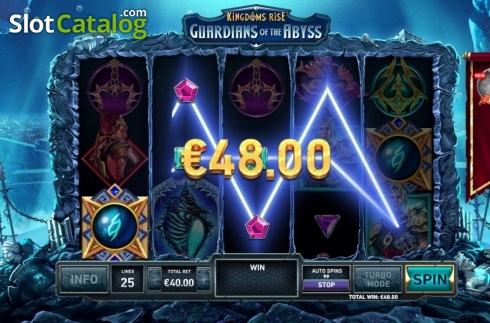 Win Screen 2. Kingdoms Rise: Guardians of the Abyss (Video Slot from Playtech Origins)