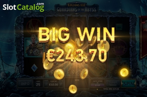 Big Win. Kingdoms Rise: Guardians of the Abyss (Video Slot from Playtech Origins)