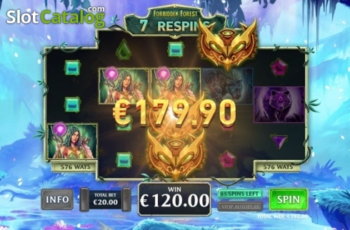 Free Spins 4. Kingdoms Rise: Forbidden Forest (Video Slot from Playtech Origins)