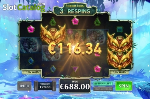 Free Spins 5. Kingdoms Rise: Forbidden Forest (Video Slot from Playtech Origins)