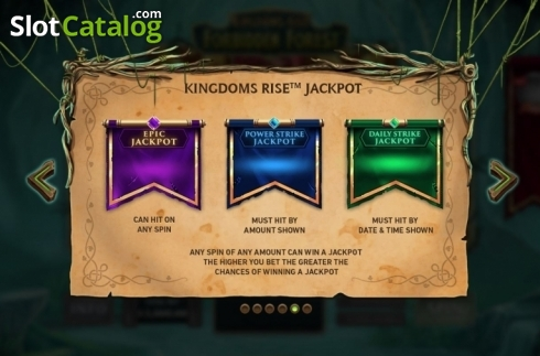 Features 3. Kingdoms Rise: Forbidden Forest (Video Slot from Playtech Origins)