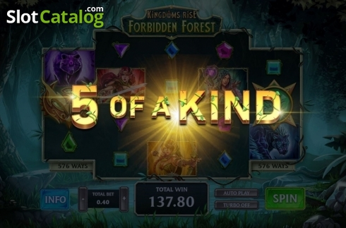 Reel Screen. Kingdoms Rise: Forbidden Forest (Video Slot from Playtech Origins)