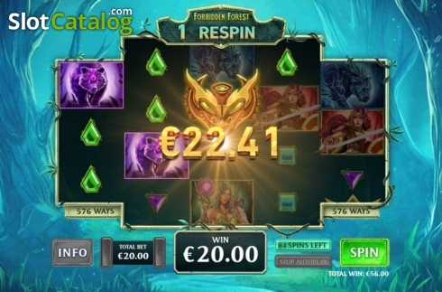 Respin Feature 2. Kingdoms Rise: Forbidden Forest (Video Slot from Playtech Origins)